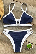 Cupshe Starfish Bay Denim Bikini Set