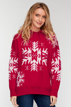 Red and White Snowflake Sweater