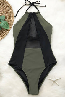 Take My Heart Mesh One-piece Swimsuit