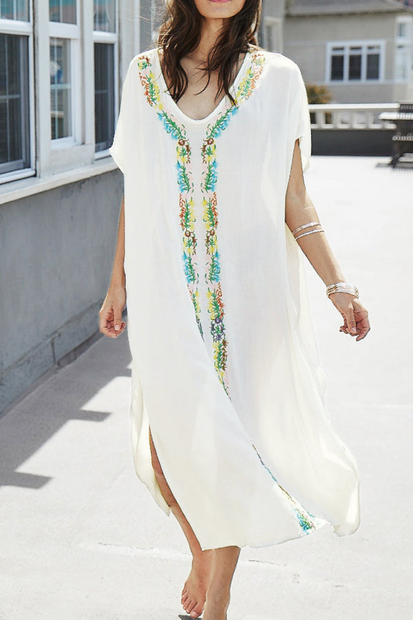 Sandy Cay White Embroidery Dress