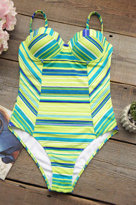 Cupshe Stripy Lemon One-piece Swimsuit