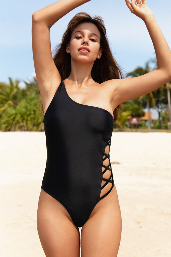 Amari One Shoulder One Piece Swimsuit