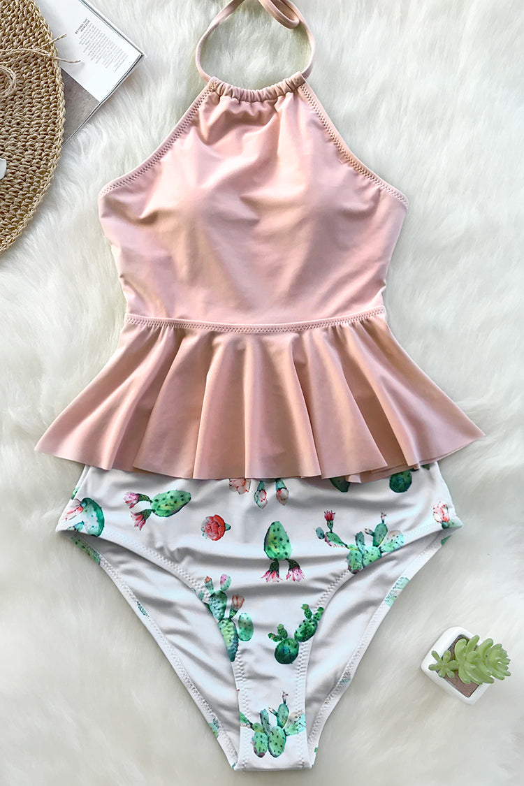 Feel ready to party all day long with bikini set. Product Code AB30401M Details Cactus print Peplum design Lace up at back High-waisted fit With padded bra Regular wash Fabric chinlon Referencemodel try on SIZE M, height 5\'9, weight 155 lbs, bust 36C SIZE(IN) USA UNDERBUST WAIST HIP S 4/6 25.5-26.5 22-23 29.5-30.5 M 8/10 26.5-27.5 23-24 30.5-31.5 L 12/14 27.5-28.5 24-25 31.5-32.5 XL 16 28.5-29.5 25-26 32.5-33.5 XXL 18 29.5-30.5 26-27 33.5-34.5 size chartplease allow 0.4-0.8 differs due to manual measurement Swim Top Sizing Guide S M L XL XXL 32C 34C 36C 38D 40D 32D 34D 36D 40B 42B 34A 36A 38A 40C 42C 34B 36B 38B 40D 42D