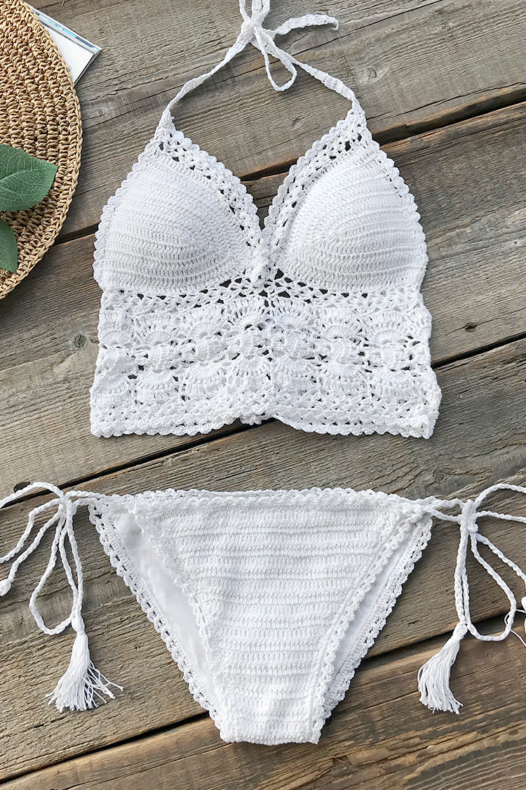 Above The Clouds Solid Bikini Set