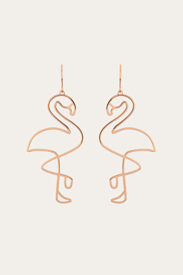 Golden Flamingo Earrings