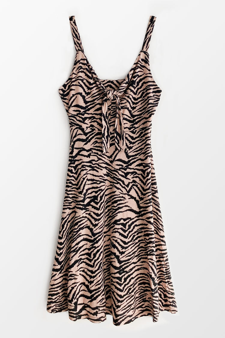 On The Prowl Knotted Midi Dress