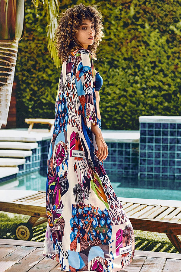 Printed Maxi Cover Up
