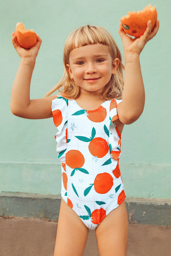 Cleo Ruffle One Piece Swimsuit For Toddler Girls And Girls