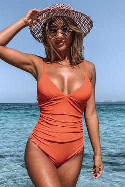 Bright Day Shirring One Piece Swimsuit