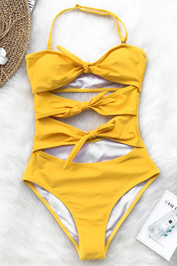 Wisteria Walk Halter One-piece Swimsuit