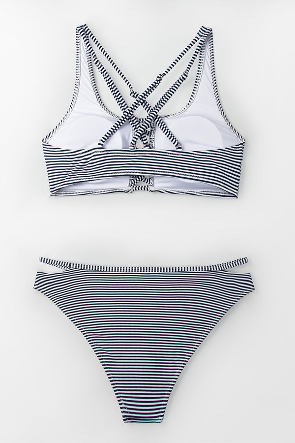 Enchanted Stripe and Strappy Bikini