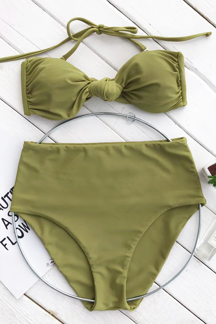 Cupshe Green Tea Halter Bikini Set