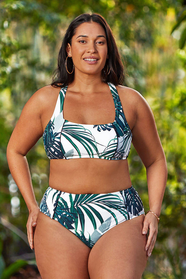 Madelyn Tropical Plus Size Bikini Bottom