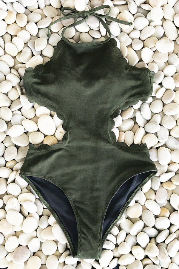 Admire You Halter One-piece Swimsuit