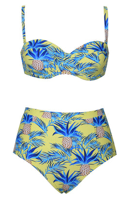 Cupshe Pineapple Strange Bikini Set