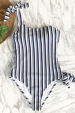 Patron Of The Moon Stripe One-piece Swimsuit