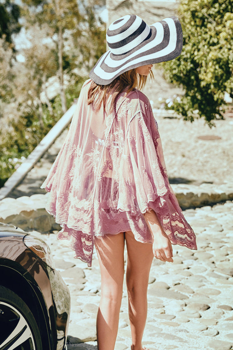 Sun Daze Pink Lace Cover Up