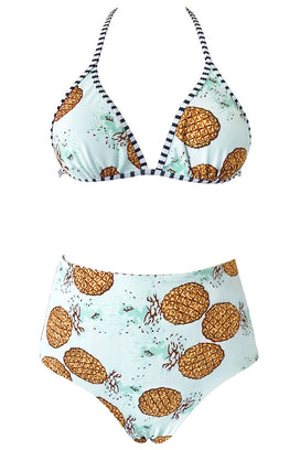 Cupshe Call Me Pineapple Reversible Bikini Set