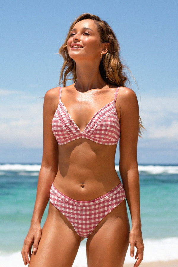 Summer Gingham Triangle Bikini