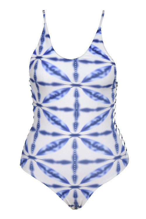 Cupshe Fresh Look Lace Up Swimsuit
