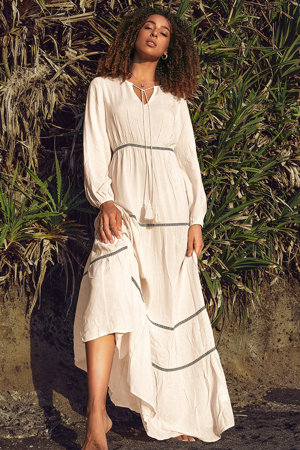 Boho Long Sleeve Maxi Dress