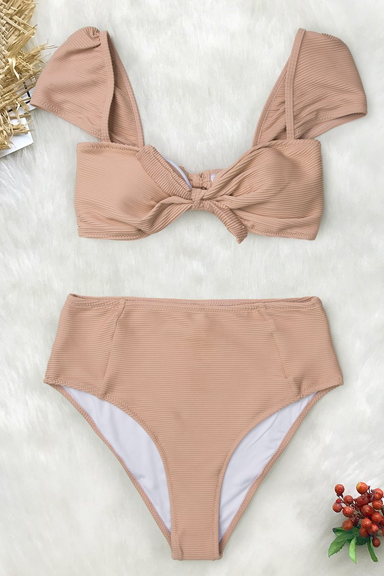 Sweet Sands High-waisted Bikini With Bowknot