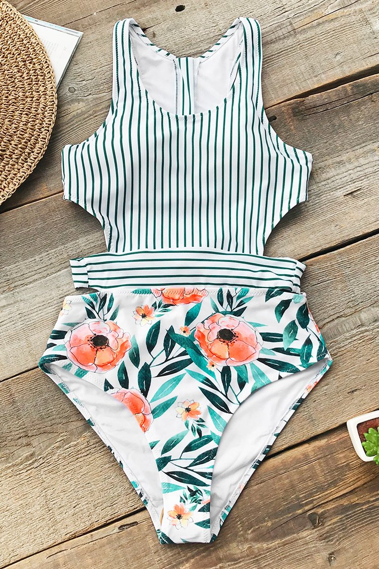 Miss U Poppy Print One-Piece Swimsuit