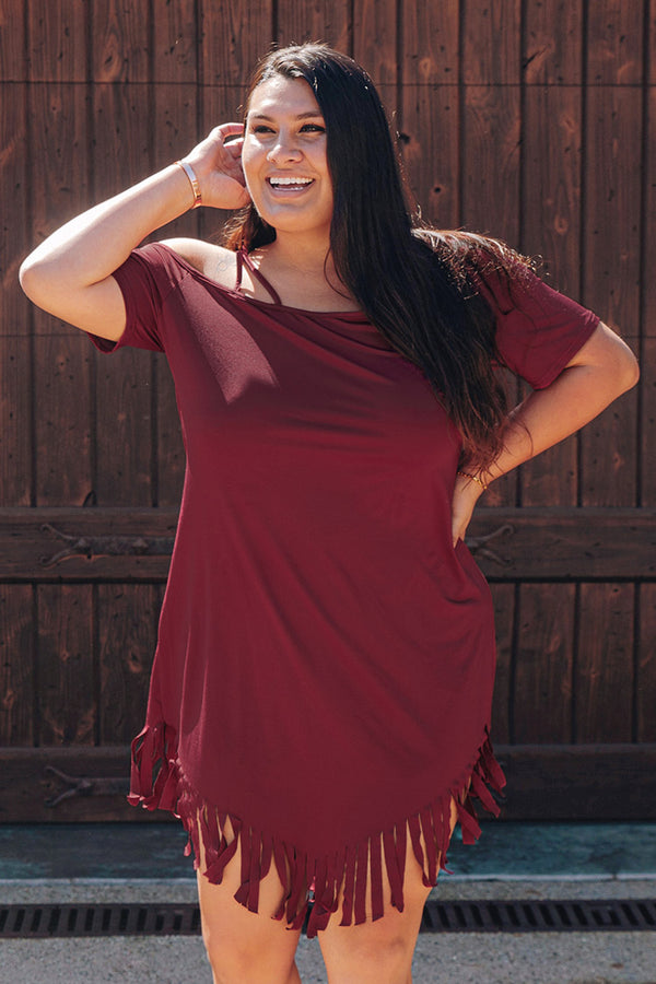 Red Tassel Plus Size Dress