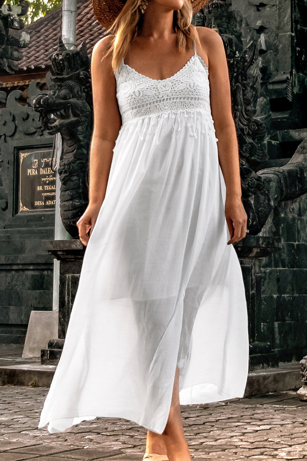 Breezy White Midi Dress