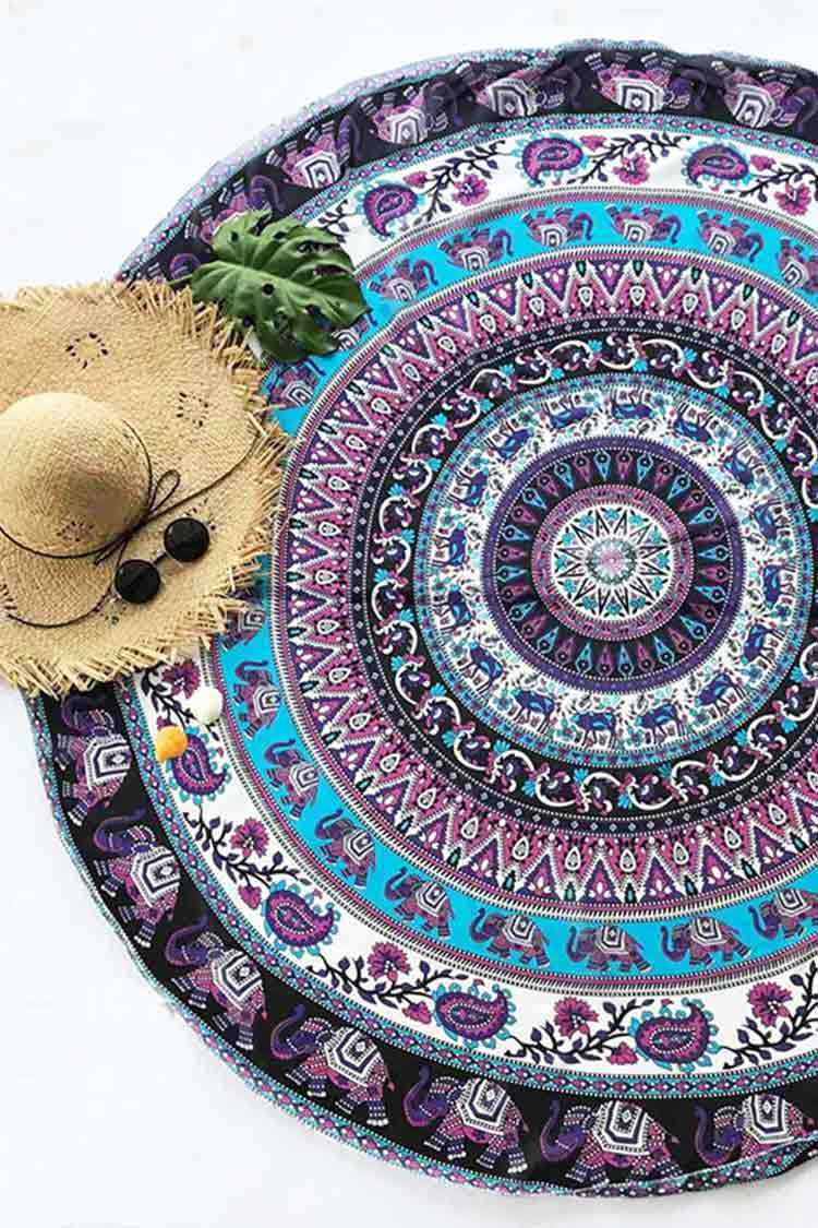 Cupshe Time Machine Round Tapestry