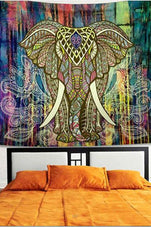 Cupshe Colorful Elephant Square Tapestry