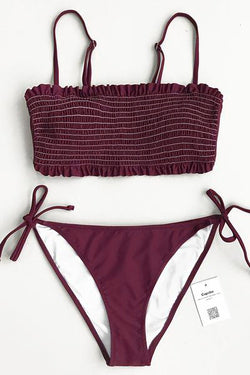 Violet Dream Solid Bikini Set