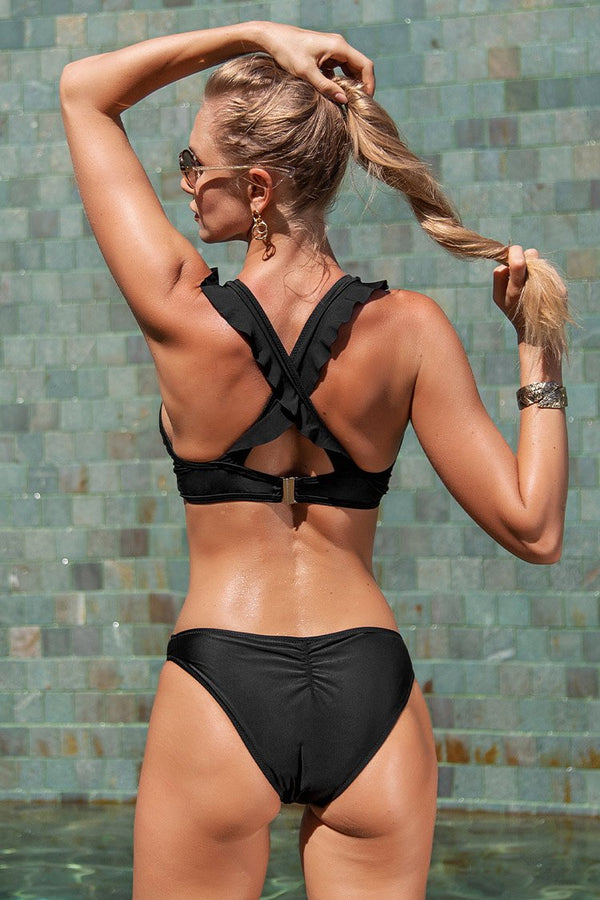 Darkness Before The Dawn Cross Bikini Set