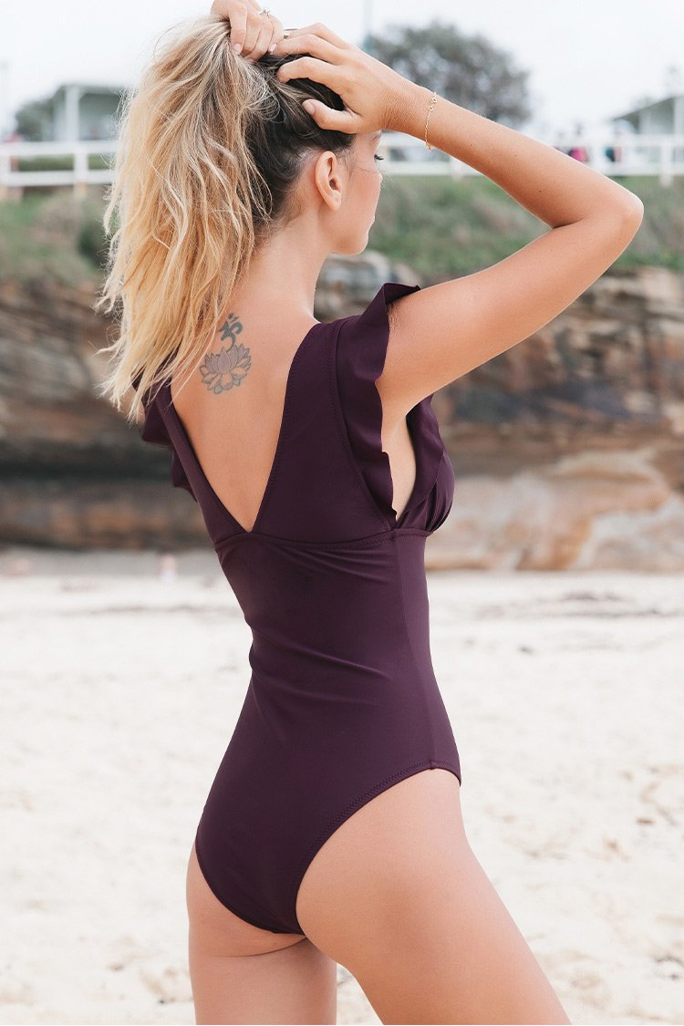 Royal Elegance One-Piece Swimsuit