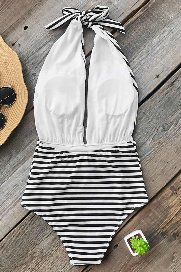 Farewell Cambridge Stripe One-piece Swimsuit