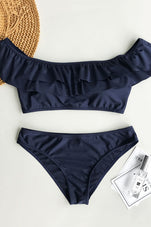 Cupshe Out Of The Ordinary Solid Bikini Set