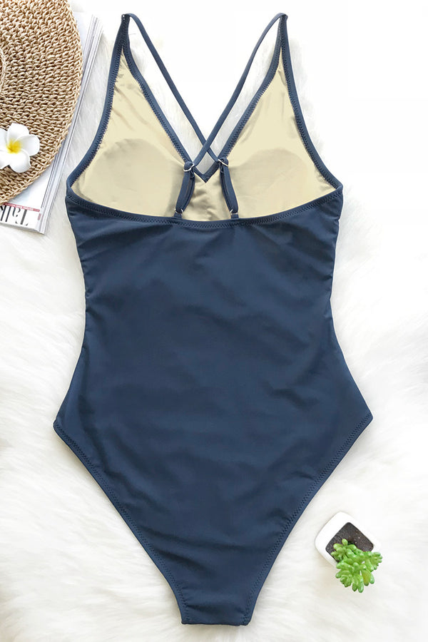 Kiss The Sky V-neck One-piece Swimsuit