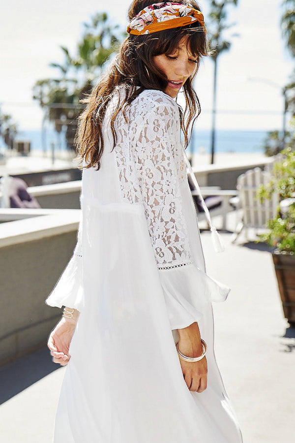 Seaside Stay Lace Cover Up