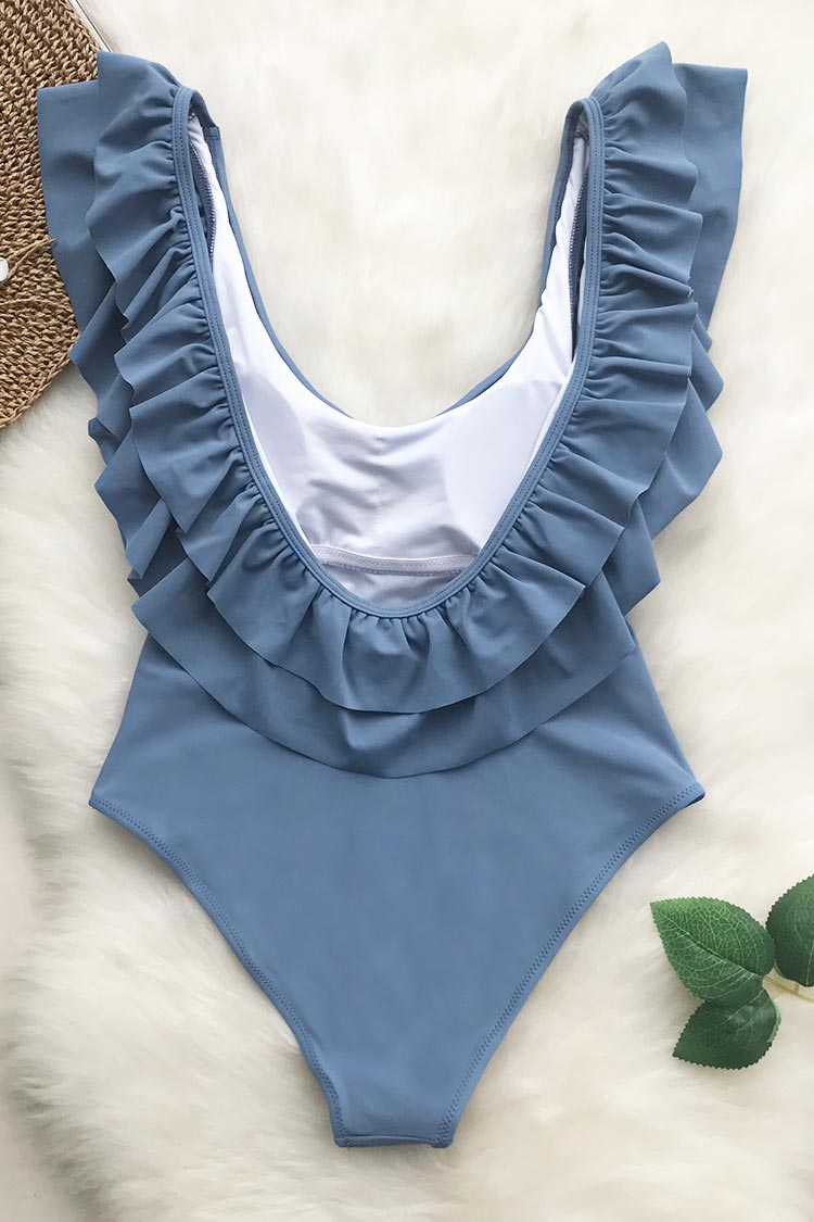 Lovely Sweetheart Solid One-piece Swimsuit