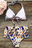 Cupshe Chic Freely Floral High-waisted Bikini Set