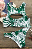 Cupshe Chill Zone Palm Leaves Tank Bikini Set