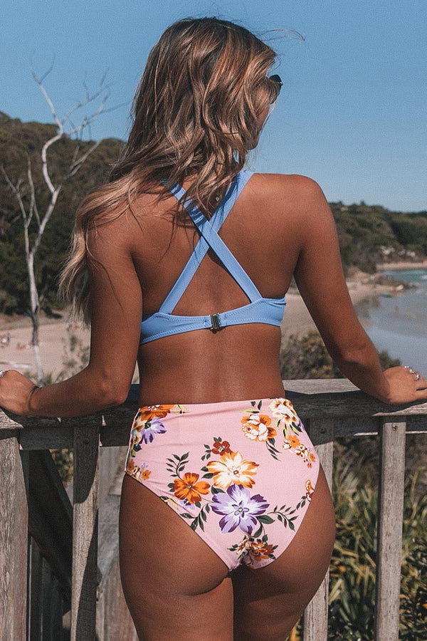 Sweet Floral Dreams Knotted Bikini