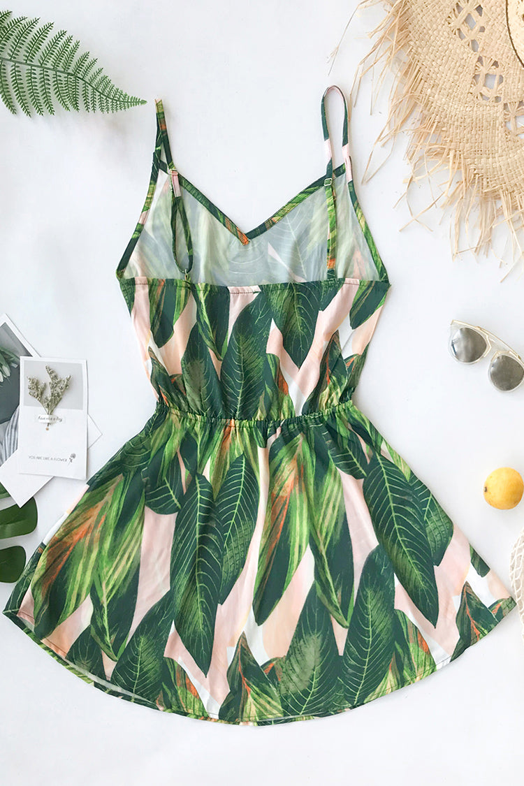 Tropical Dream Banana Leaf Print Dress