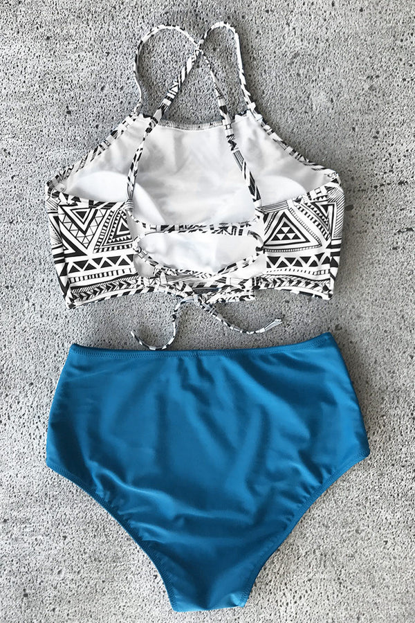 Simple Truth Lace-Up Bikini Set