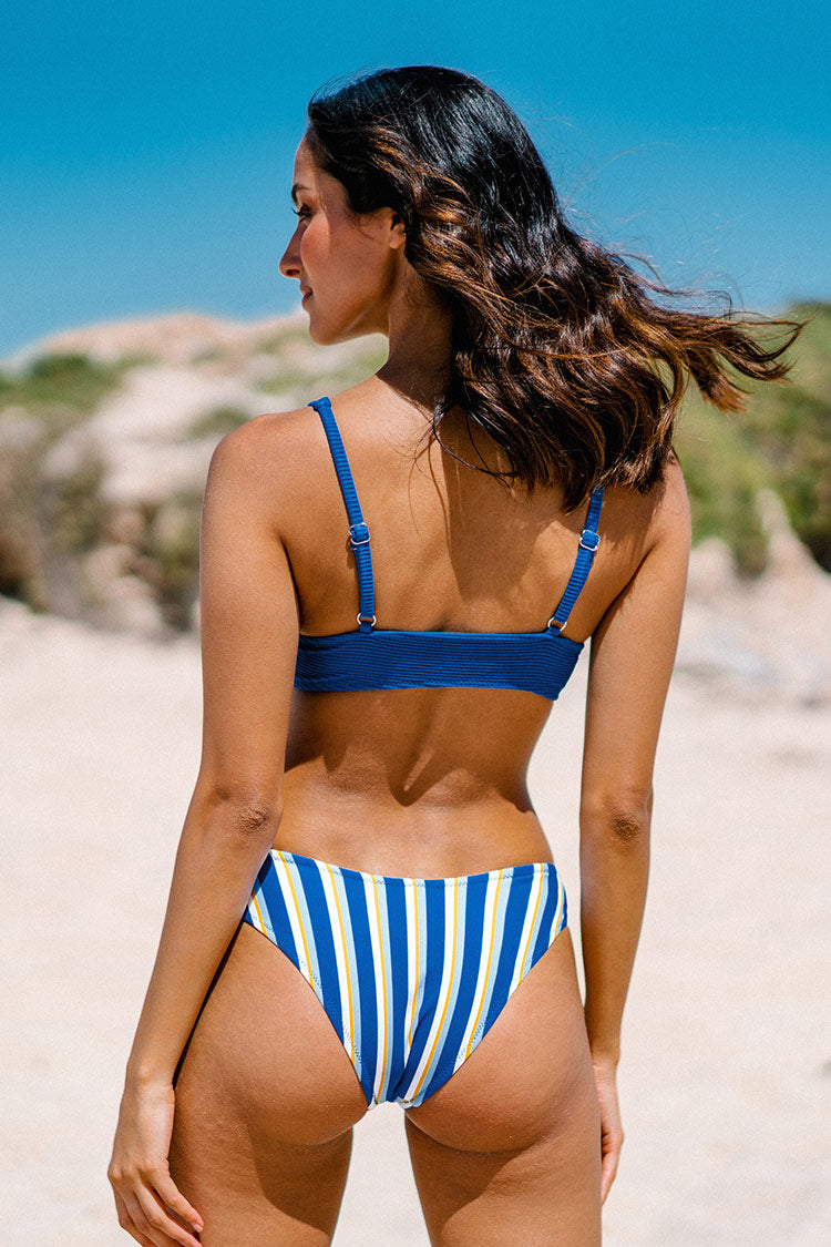 Blue and Striped U-Wire Bikini