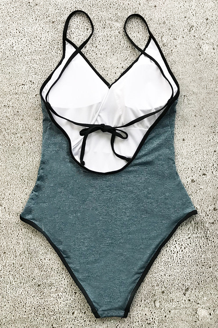 Hear Your Voice Solid One-piece Swimsuit