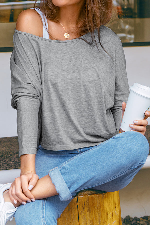 Loose-Fit Long Sleeve T-Shirt