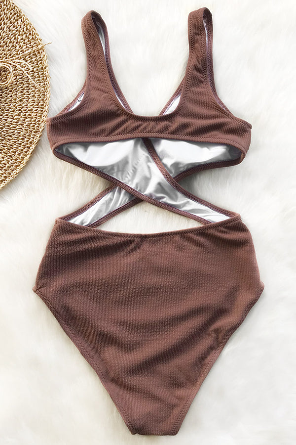 Tender Look Cross One-piece Swimsuit