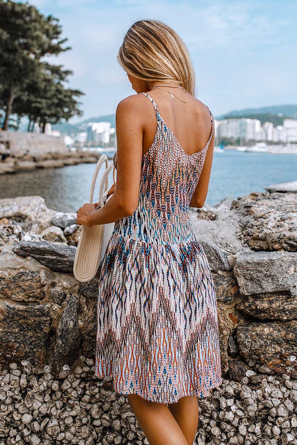 Boho V-Neck Mini Dress