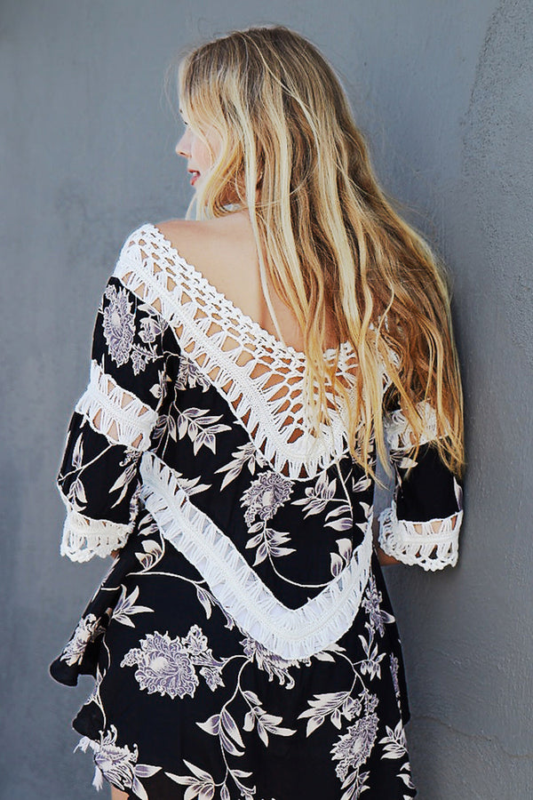 Floral Crochet Cover Up